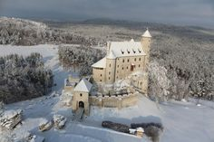 Castle Bobolice in winter, Poland
