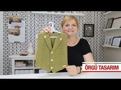 Enine örülen cepken modeli - YouTube Woolen Sweater Design, Pullover Design, Crochet Baby, Youtube, Knitting, Sweaters, Baby Girls, Clothes, Fashion