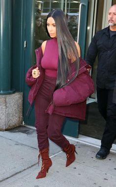 Kim Kardashian-West arriving at today's Yeezy Season 5 show in New York