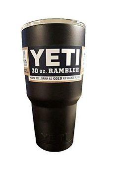 Powder Coated 30oz Yeti Rambler (Matte Black)