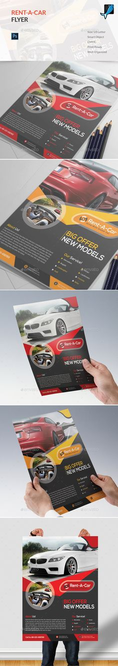 Rent A Car Flyer Template PSD. Download here: https://graphicriver.net/item/rent-a-car-flyer/17533801?ref=ksioks