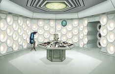 The Third Doctor's second console room. with a slightly bigger budget. I love this controversial design and think it probably would've been more . The Time Monster Console Room Second Doctor, Classic Doctor Who, Doctor Who Art, Console, Geek Culture, Dr Who, Tardis, Deviantart, Pistols