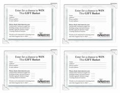 Gift basket entry forms