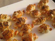 Des croissants au saumon fumé