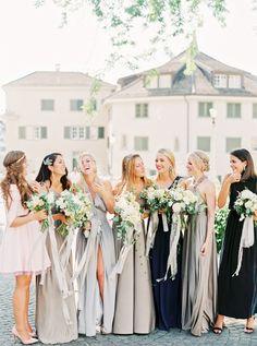 Photography: Peaches And Mint - peachesandmint.com Wedding Dress: Inbal Dror - inbaldror.co.il/en Bridesmaids' Dresses: Twobirds Bridesmaid - twobirdsbridesmaid.com   Read More on SMP: http://stylemepretty.com/vault/gallery/37707
