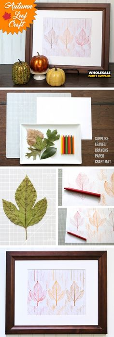 Autumn Leaf Craft for Kids Thanksgiving Crafts For Kids, Thanksgiving Parties, Thanksgiving Decorations, Fall Crafts, Kid Crafts, Leaf Crafts, Flower Crafts, Autumn Leaves Craft, Wholesale Party Supplies