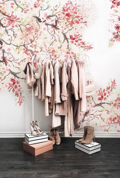 Pale Flamingo Removable Wallpaper Pinterest Temporary wall