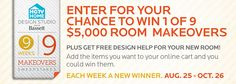 9 Weeks 9 Makeovers Sweepstakes | Win a $5,000 Room Makeover from Bassett Furniture!