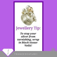 Tip for your #jewellery.