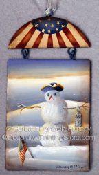 Colonial Snowman ePattern - Barbara Franzreb-Bunsey - PDF DOWNLOAD  www.decorativepaintingstore.com