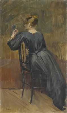 Portrait of Suzanne Valadon, aged 20, 1885, Jean Eugène Clary