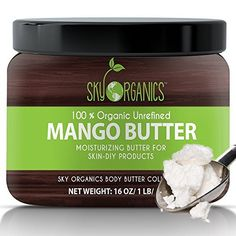 Product review for Sky Organics Unrefined, Organic Mango Butter for Dry Skin and Hair Care, 16 Oz.  - Make Your Skin Look Brand New & Feel Rejuvenated With Sky Organics Organic Unrefined Mango Butter Looking for a skin care product that can truly do miracles for your skin without any artificial additives, preservatives or chemical substances?  Then you should look no further than Sky...