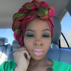 Love how she wrapped this headscarf!  www.talktresses.com