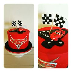 Lightning Mcqueen cake Disney Cars Party, Disney Cars Birthday, Disney Cars Cake, 2nd Birthday Boys, 4th Birthday Cakes, Car Themed Parties, Cars Birthday Parties, Lightning Mcqueen Party, Lightning Mcqueen Birthday Cake