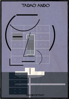 Tadao Ando, ARCHIPORTRAIT // illustration by Federico Babina