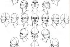 how to draw female face from different angles - Google-søgning