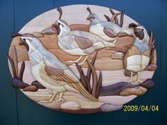 Intarsia Quail by Wildlife In Wood