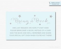 Bring a Book Cards Bring a Book Tickets Baby Shower Invitation Inserts Blue Silver Boy Shower Boy Sprinkle Baby Shower Game Digital Stars by MarleyDesign on Etsy https://www.etsy.com/listing/220884125/bring-a-book-cards-bring-a-book-tickets