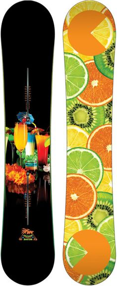 Burton Restricted Custom Snowboard. Now 30% off! And it's scratch and sniff. I swear. Come in and give it a sniff yourself!