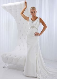 Wedding Dress Bridal Gowns By Impression Inverted Triangle Figure Body Type Chiffon