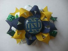 Notre Dame bow by AbraBOWdana on Etsy, $6.50