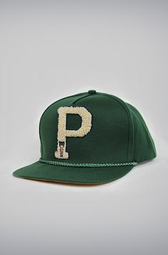 Big Chenille P Varsity Hat: Forest Green by Profound Aesthetic