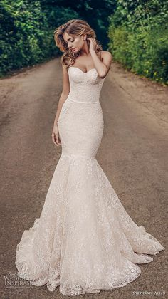 15cb69df877e stephanie allin 2019 bridal sleeveless spaghetti strap sweetheart neckline  full embellishment bustier sexy elegant blush mermaid