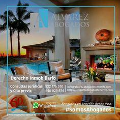 Derecho Inmobiliario en Tenerife. Le gestionamos y asesoramos en Derecho Inmobiliario: Compraventa inmuebles tanto comprador y vendedor, arrendamientos, herencias, Regularización registral de inmuebles, Coordinación registro-catastro y Propiedad horizontal. Consulte abogados especialistas en https://alvarezabogadostenerife.com/?p=11776 #SomosAbogados #Abogados #Tenerife