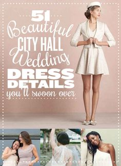 I really like the design of some of these dresses, not their intended purpose of course.  They are awesomely vintage inspired.    51 Beautiful City Hall Wedding Dress Details You'll Swoon Over