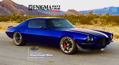 Custom Paint  Superduper Blue and body from Painthouse on 1971 Camaro built by Gap Racing. Being debuted at SEMA 2016.