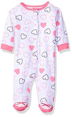 BON BEBE Baby Girls' Pink Hearts Print Footed Coverall 100 percent cotton Snap-front opening Footed Tag less neck label Machine wash cold with like colors. Use only non-chlorine bleach when needed. Baby Girl Names, Cute Baby Girl, Cute Babies, Boy Or Girl, Baby Boy, Boys And Girls Clothes, Cute Baby Clothes, Babies Clothes, Baby Girl Pajamas