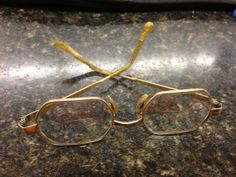 Antique spectacles glasses gold fill vintage