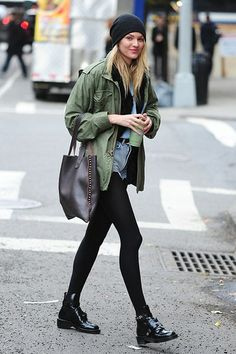 Candice Swanepoel | Street Style | Balenciaga Boots