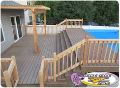 View custom pool decks in Omaha. Rectangle Above Ground Pool, Oval Above Ground Pools, Rectangle Pool, In Ground Pools, Above Ground Pool Landscaping, Backyard Pool Landscaping, Swimming Pools Backyard, Pool Spa, Lap Pools