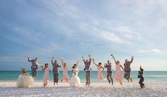 group shoot destin beach wedding
