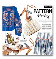 """""""pattern mixing: relaxed summer"""" by bonadea007 ❤ liked on Polyvore featuring Alphamoment, Yuliya Magdych, Bobbi Brown Cosmetics, Etro, Serpui, STELLA McCARTNEY, Pussycat, Gas Bijoux, D&G and Blue Nile"""