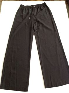 MICHAEL KORS Black Wide Leg Pants Size 8 #MichaelKors #CasualPants