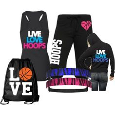 Basketball apparel for girls who play sports!