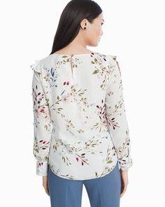 04f308b02f272 Split-Sleeve Floral Blouse Floral Blouse