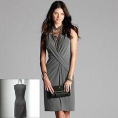 94ee6b445c907 Simply Vera Vera Wang Simply Separates Crisscross Crepe Sheath Dress -  Women's