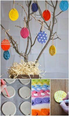 Salt dough eggs 40 Fun and Creative Easter Crafts for Kids and Toddlers Easter Crafts For Kids, Toddler Crafts, Crafts Toddlers, Spring Crafts, Holiday Crafts, Cute Crafts, Diy And Crafts, Easter Candy, Easter Eggs