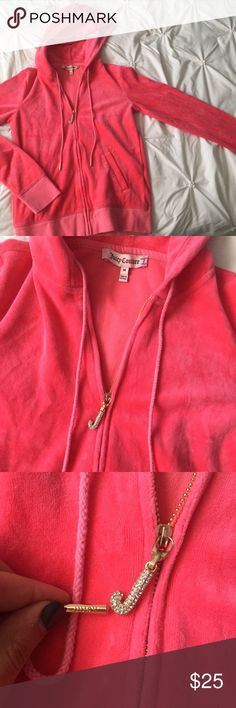 Juicy Couture Pink Velour Zip Up Track Jacket Juicy Couture Pink Velour Zip Up Track Jacket size medium gold detail ---- 🚭 All items are from a non-smoking home. 👆🏻Item is as described, feel free to ask questions. 📦 I am a fast shipper with excellent ratings. 👗I do bundle discounts and am open to trades. 😍 Like this item? Check out the rest of my closet! 💖 Thanks for looking! Juicy Couture Tops Sweatshirts & Hoodies