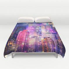 New York duvet cover/New York bedding/New York by haroulitasDesign