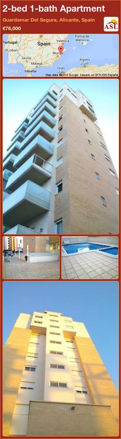 2-bed 1-bath Apartment in Guardamar Del Segura, Alicante, Spain ►€76,000 #PropertyForSaleInSpain