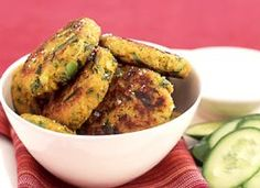 Spicy Chickpea Patties   Vegetarian and high in protein