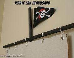 Pirate ship flag headboard for little boys