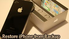 Back Up And Restore Your Iphone Data   A large number of people only trust the services of apple when it comes to Quality Smartphone's. The apple iPhone was a revolution in the market of smartphones or perhaps was among the very few smartphones which took the market by force.