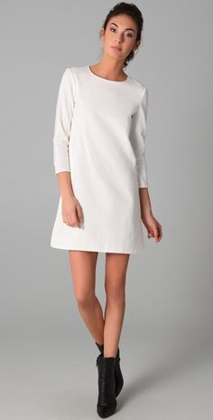 Short White Long Sleeve Dresses