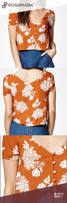 Kendall & Kylie V-Neck Short Slee V-neckline/ large  Allover print Short sleeves Button-down 100% rayon Kendall & Kylie Tops Blouses