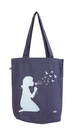 Dandelion Blue Tote Bag